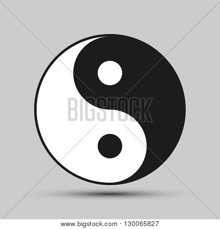 Ying yang balance. Symbol of harmony and balance