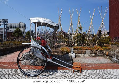 Japanese Rickshaw At Otaru City