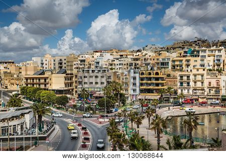 Marsaskala Malta - 02 May 2016: Marsaskala resort on the Malta island