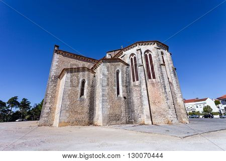 Apse exterior of the Santa Clara Church in the city of Santarem, Portugal. 13th century Mendicant Gothic Architecture.