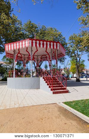 19th century Bandstand in the Republica Garden, Santarem, Portugal.
