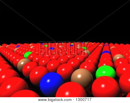 Colorful Balls On Black Background, Diversity