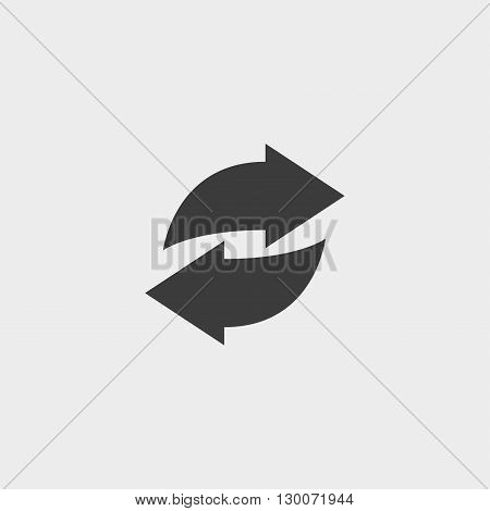 Web line icon. Circular arrows in black color