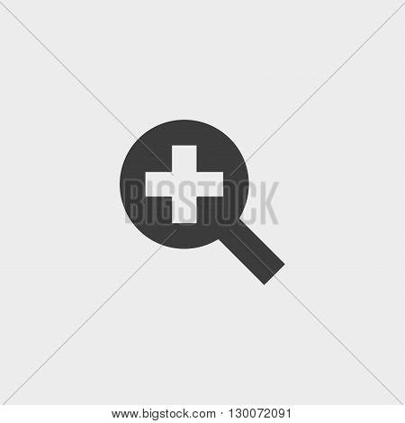 Simple web icon in vector zoom in black color