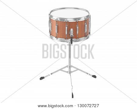 Orchestra Small drum isolated on white  background 3D rendering