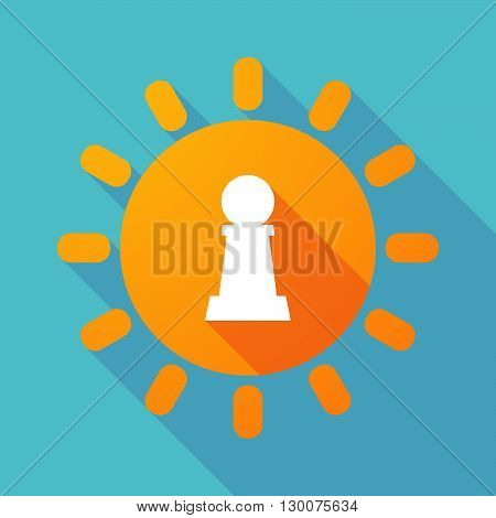 Long Shadow Sun With A  Pawn Chess Figure