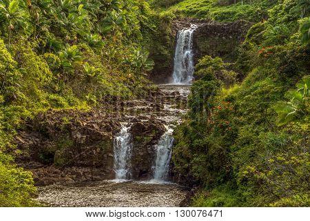 Upper Portion Of Umauma Falls