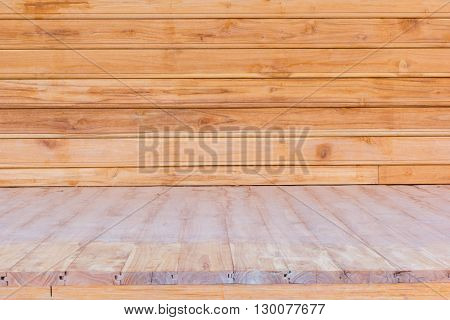 wooden flooring and wall used for background.