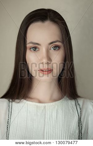 Portrait of a beautiful woman. glamorous portrait of young beautiful woman outdoor. Portrait of a cute woman. Portrait Of Young Smiling Beautiful Woman.
