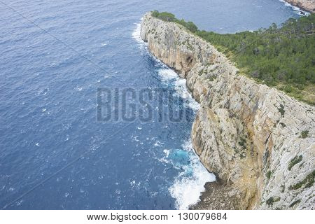 summer, views of Cape formentor in the tourist region of Mallorca, located northeast of the island