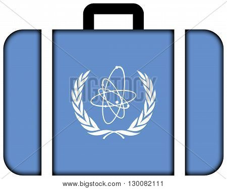 Flag Of The International Atomic Energy Agency (iaea). Suitcase Icon, Travel And Transportation Conc