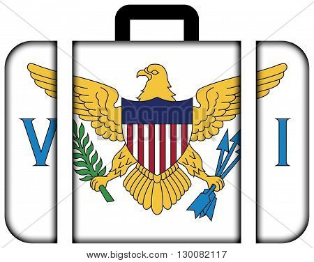 Flag Of The U.s. Virgin Islands. Suitcase Icon, Travel And Transportation Concept