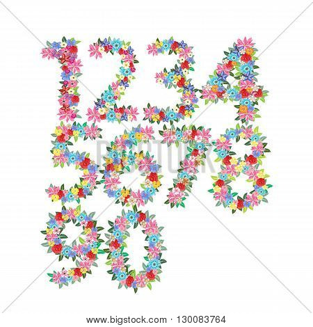 Vector illustration isolated  figure digit  font anniversary