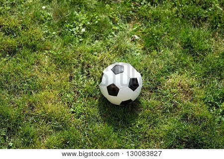 Soccer Ball On Green Field, Concept Championship