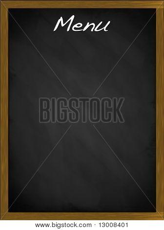 Menu Blackboard With Empty Space