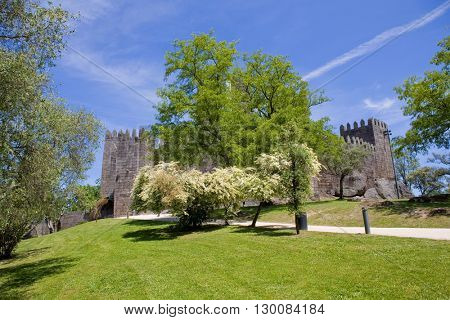 Guimaraes castle, in the north of Portugal.