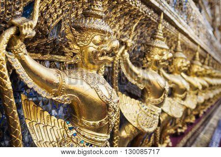 Garuda at Wat Phra Kaew temple, Grand Palace, Bangkok, Thailand.