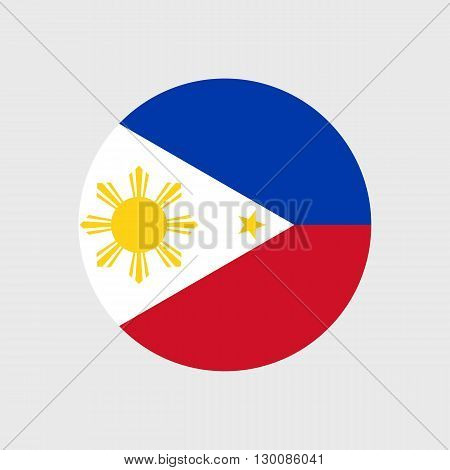 Set of vector icons with flag of the Philippines