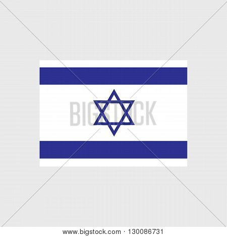 Set of vector icons with Israel flag