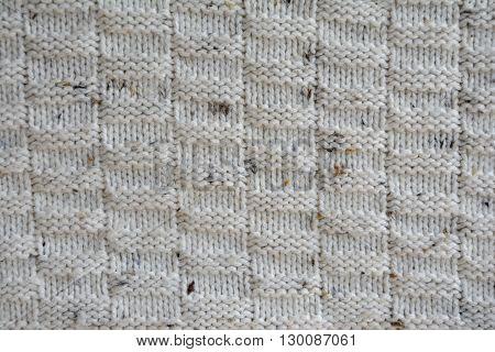 Photo of woolen sweater texture - closeup