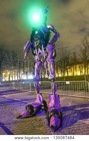 Transformers In Zagreb At Night