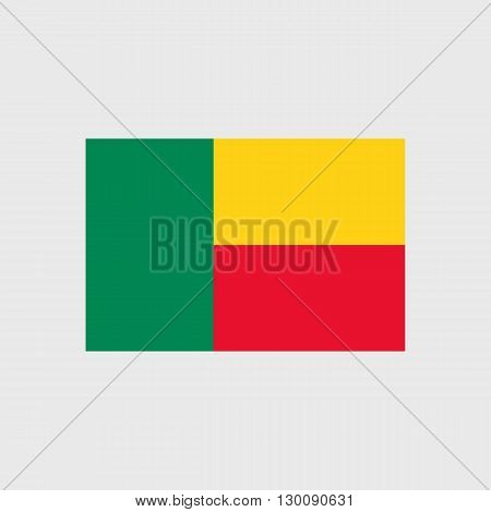 Set of  vector icons with Benin flag