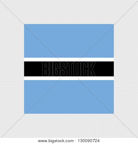 Set  of vector icons with Botswana flag