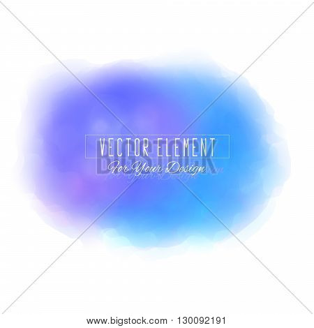 Vector watercolor spot. Watercolor background. Colorful abstract texture. Bright watercolor stain. Vector art banner. Blue colors