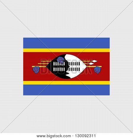 Set  of vector icons with Swaziland flag