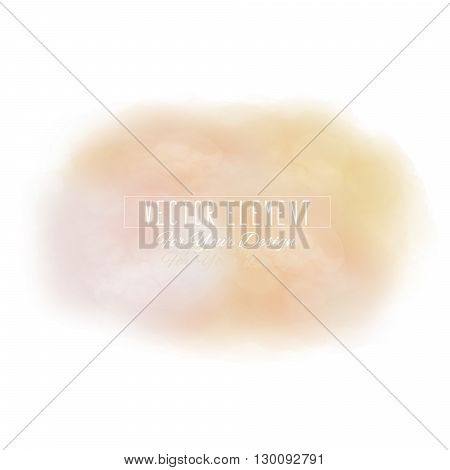 Vector watercolor spot. Watercolor background. Colorful abstract texture. Bright watercolor stain. Vector art banner. Cream tones