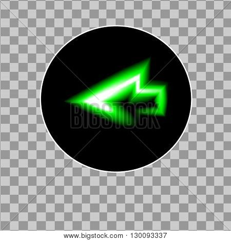 vector illustration  moder arrow neon sign icon