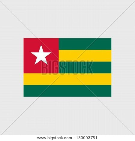 Set of vector icons with Togo flag