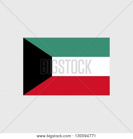 Set of vector icons with Kuwait flag