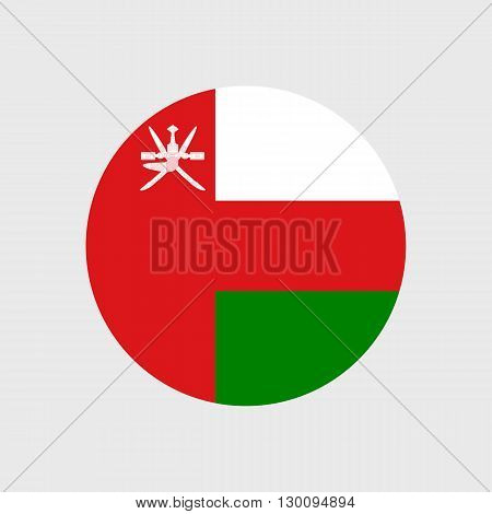 Set of vector icons with Oman flag