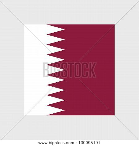 Set of vector icons with Qatar flag