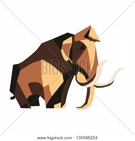 Polygon elephant. Flat elephant. EPS 10. Vector
