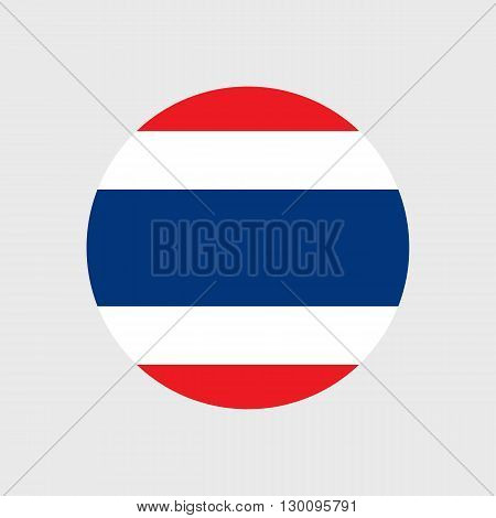 Set of vector icons with Thailand flag