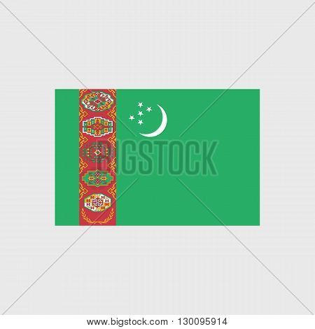 Set of vector icons with Turkmenistan flag