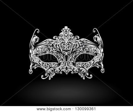 Masquerade Mask. insertion of precious stones. vector