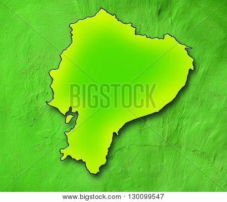 Ecuador map. Green map