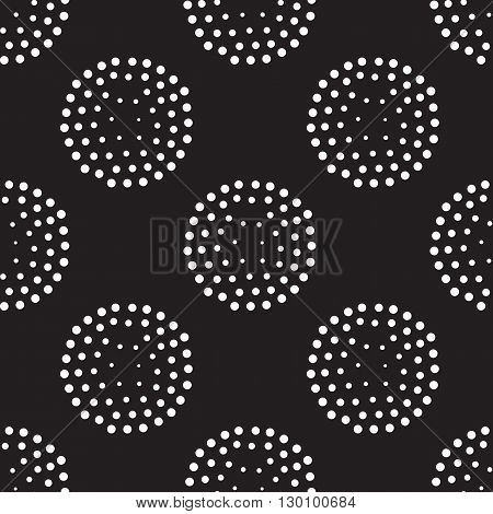 Vector Geometric Seamless Pattern. Repeating Abstract Circles Gr