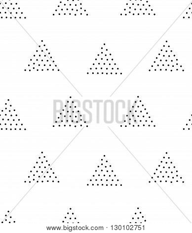 Vector Geometric Seamless Pattern. Repeating Abstract Triangle G