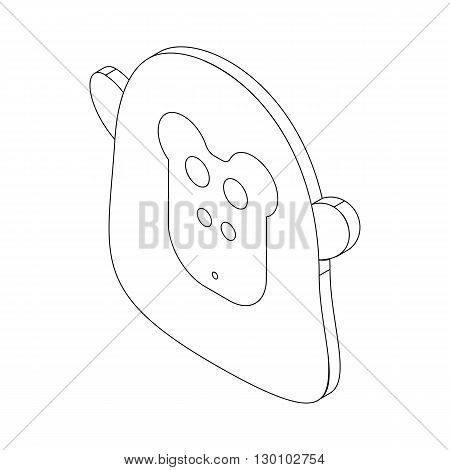 Monkey face icon in isometric 3d style isolated on white background