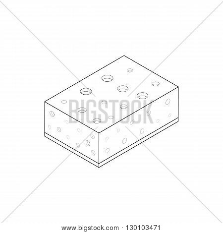 Sponge for washing dishes icon in isometric 3d style isolated on white background. Cleaning