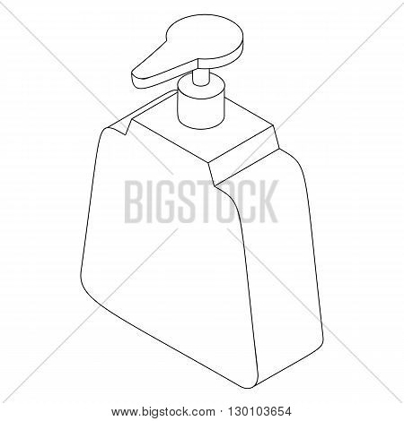 Dispenser bottle icon in isometric 3d style isolated on white background