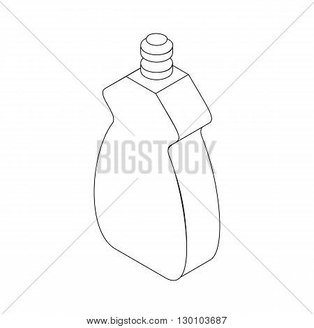 Bottle for dishwashing icon in isometric 3d style isolated on white background