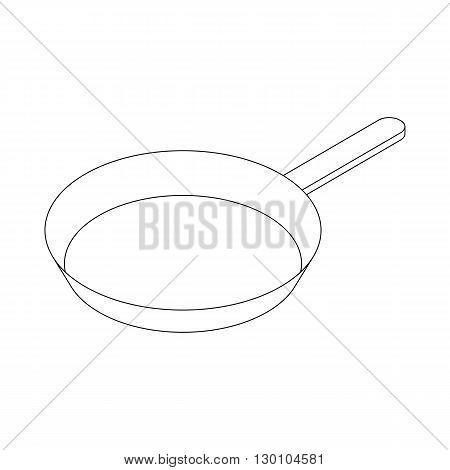 Frying pan with handle icon in isometric 3d style isolated on white background
