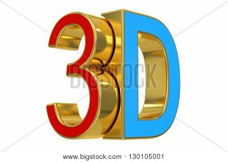 3D logo 3D rendering isolated on white background
