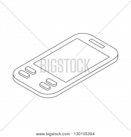 Smartphone icon in isometric 3d style on a white background