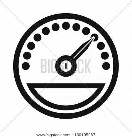 Speedometer icon in simple style on a white background